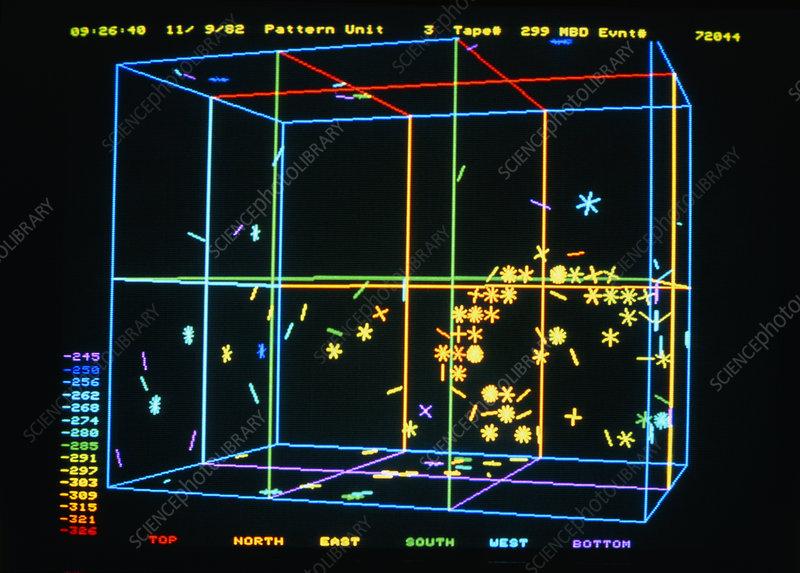 Cosmic ray neutrino event - Stock Image - A142/0201