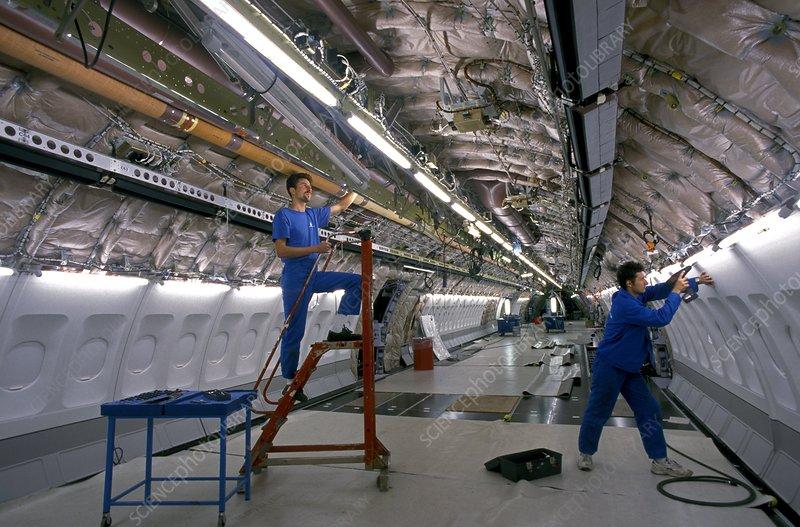 Passenger aircraft construction - Stock Image - C003/6694
