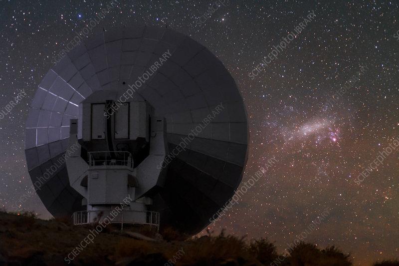 Stars over La Silla observatory, Chile - Stock Image - C022