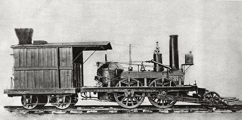 John Bull locomotive, historical image - Stock Image - C022/8941 - Science Photo Library
