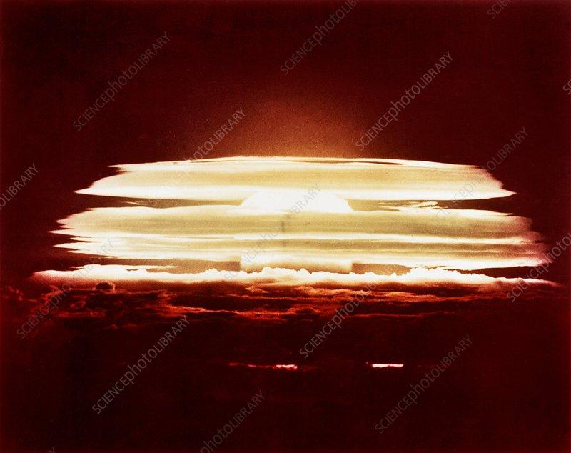 Bikini Atoll nuclear test, 1956 - Stock Image - C026/1020 - Science ...