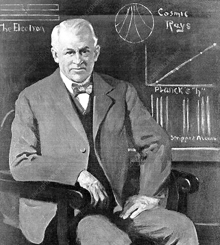 Robert Millikan, US physicist - Stock Image - C026/4094 - Science ...