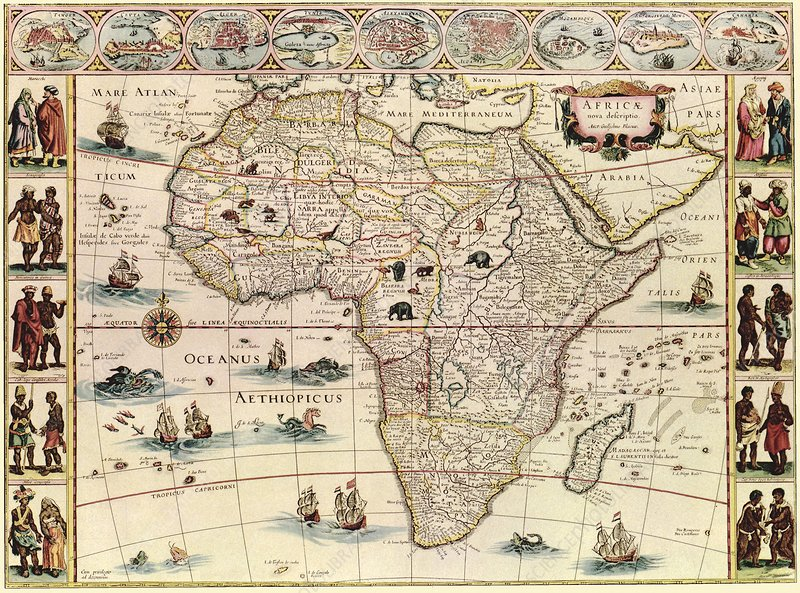 Map of Africa, 17th century   Stock Image   C026/8925   Science