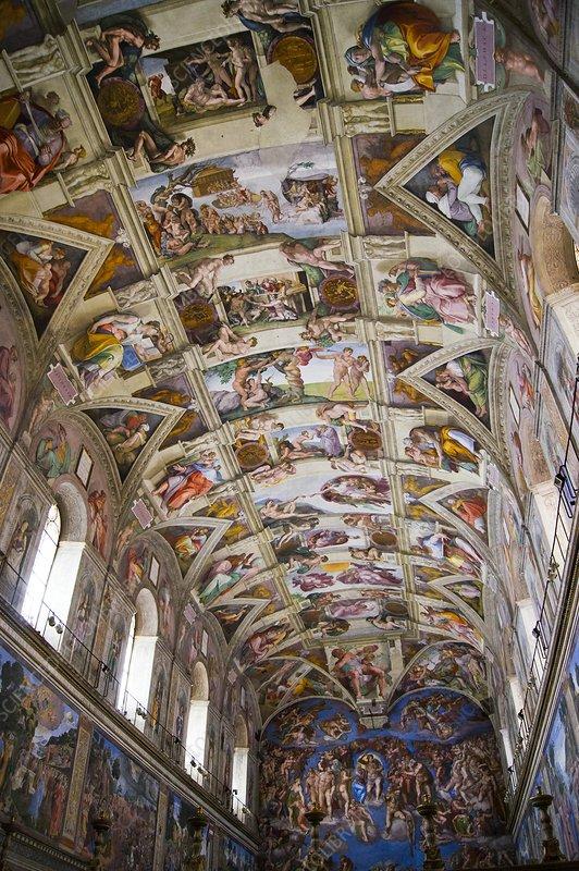 Sistine Chapel Ceiling Stock Image C026 9326 Science