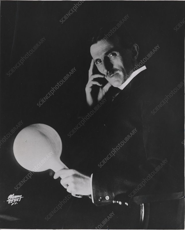 Nikola Tesla Serb Us Physicist Stock Image C030 8631 Science