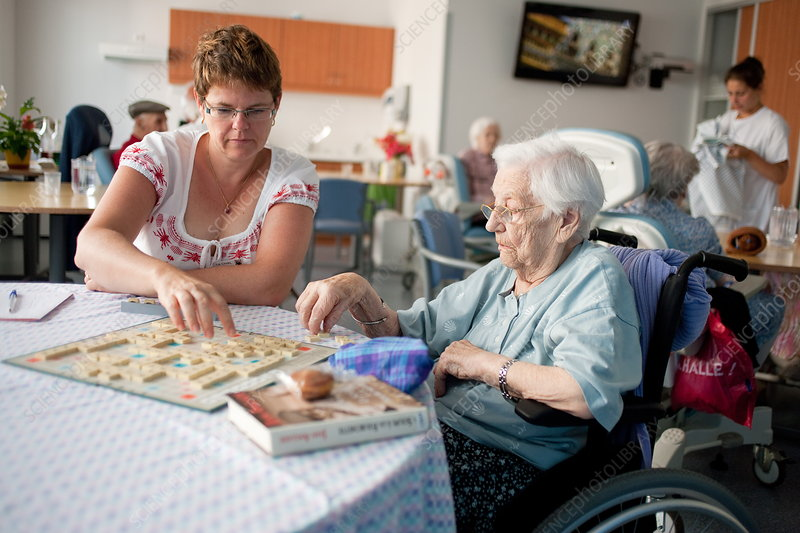 Retirement Home Stock Image C032 7617 Science Photo Library