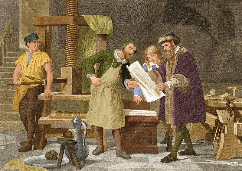Johannes Gutenberg German Publisher Stock Image C033 4149 Science Photo Library