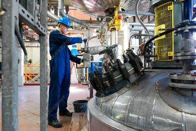 CalaChem chemical factory, Scotland, UK - Stock Image - C038/0981 - Science  Photo Library
