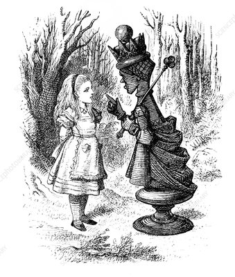 Instant Download Alice Through the Looking Glass Digital Image Queen Alice Commands