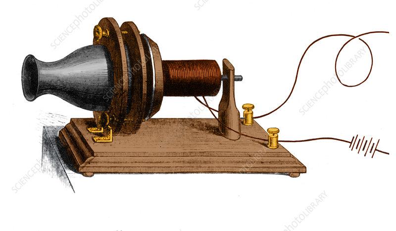 Bell's Telephone Transmitter, 1876 - Stock Image - C043/9624