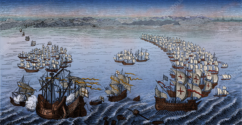 Defeat of the Spanish Armada, 1588 - Stock Image - C044/6436 ...