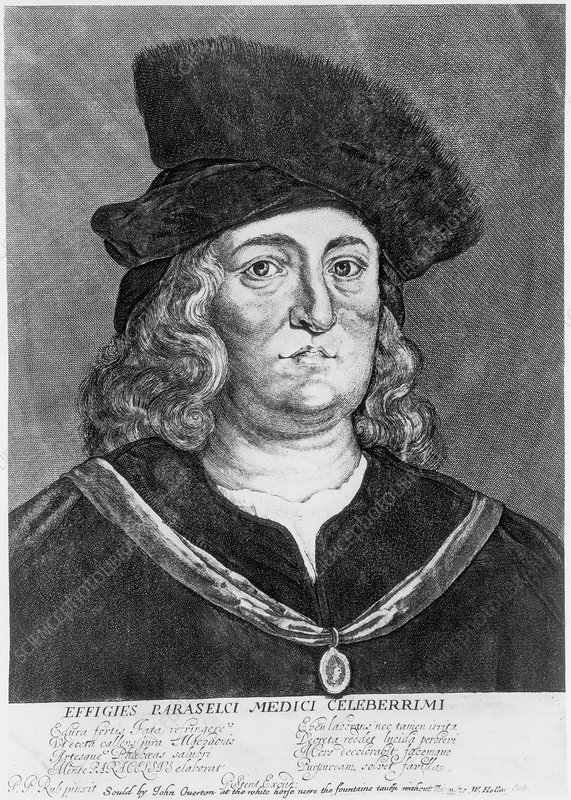 Paracelsus, Swiss alchemist and physician - Stock Image - C045/3765 -  Science Photo Library
