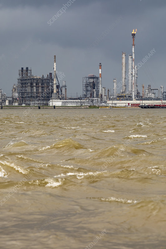Petrochemical plant, Louisiana, USA - Stock Image - C046/6433