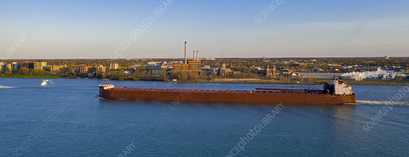 detroit river cargo ship michigan usa stock image c046 7679 science photo library 2