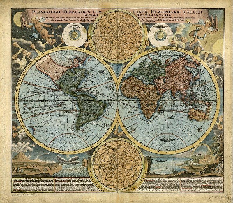 18th Century World Map Stock Image E056 0050 Science Photo