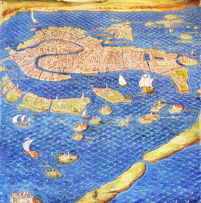 16th Century Map Of Venice Stock Image E056 0108 Science Photo Library