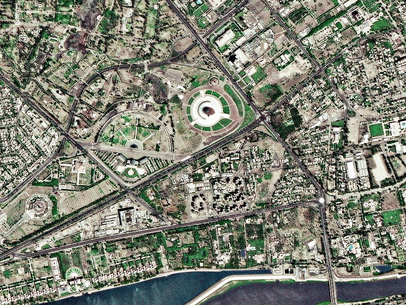 Baghdad, Iraq, satellite image - Stock Image - E780/0880