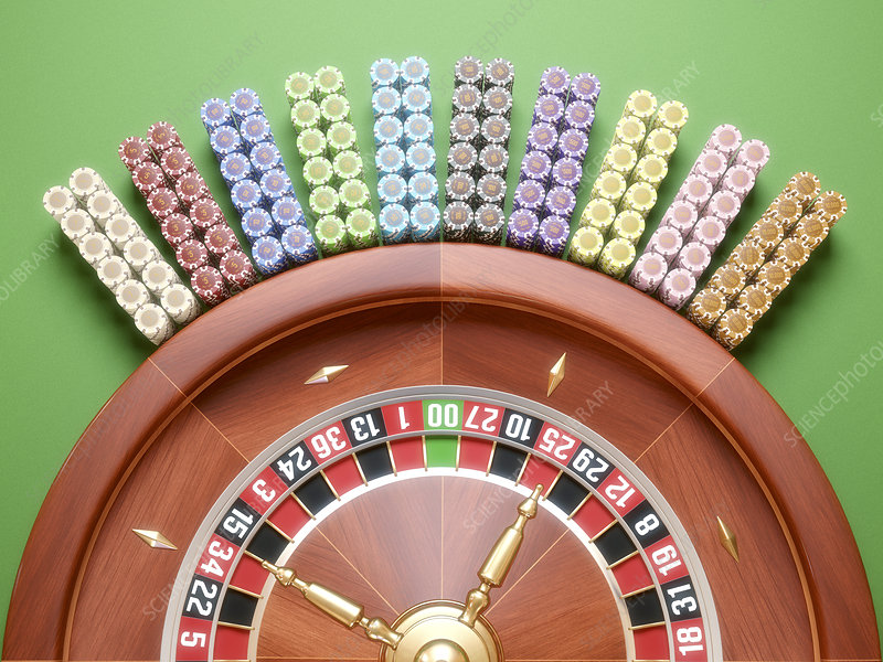 Roulette wheel, illustration - Stock Image - F011/3150 - Science Photo  Library