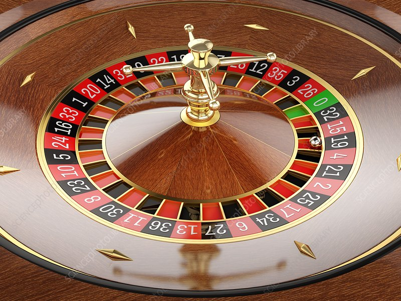 Roulette wheel, illustration - Stock Image - F022/8182 - Science Photo Library