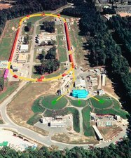 Aerial view of the Jefferson Lab site