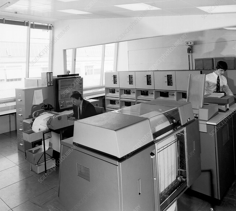 Data processing computer in CERN, 1971