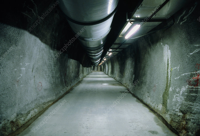 Tunnel leading to Gran Sasso Laboratory