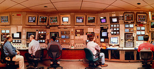Physicists in SLAC control room