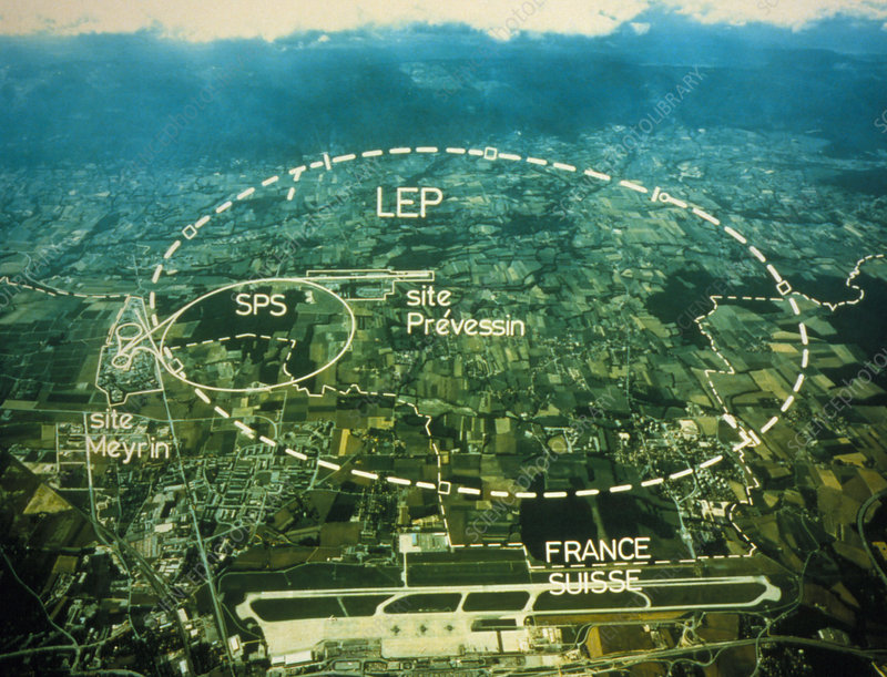 Aerial photo of CERN site, Geneva