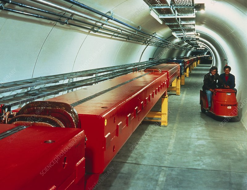 SPS accelerator tunnel at CERN