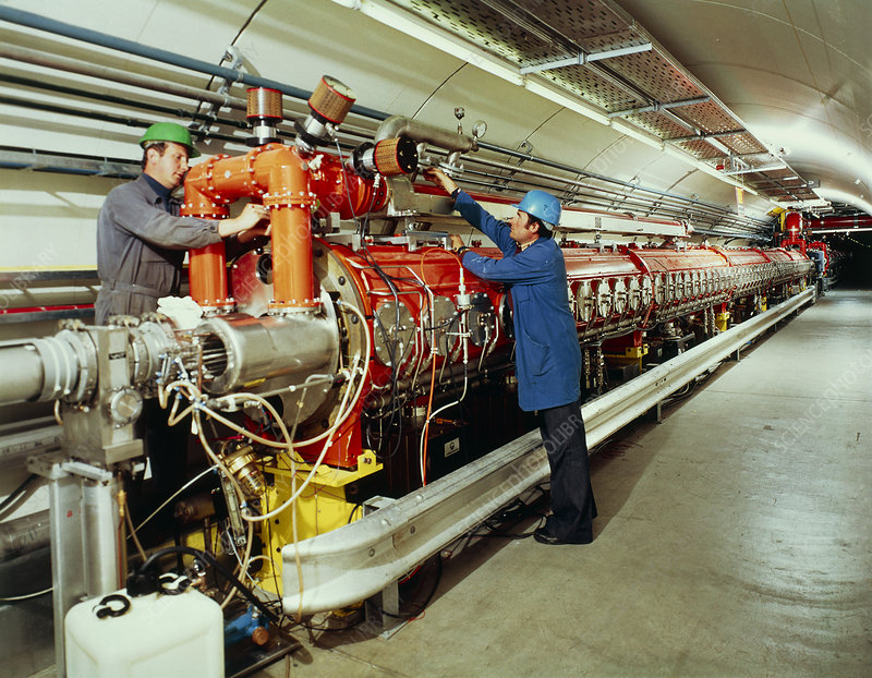 Construction of SPS accelerator, CERN
