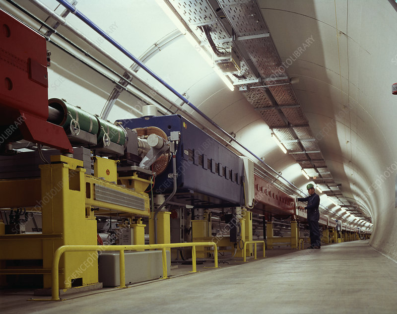 Tunnel of SPS particle accelerator