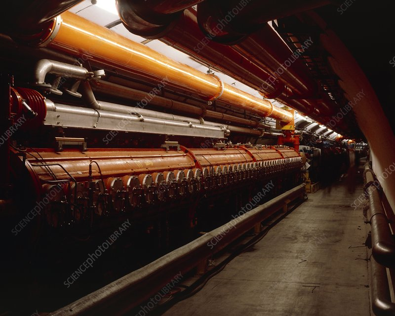 The tunnel of SPS accelerator at CERN