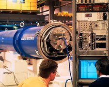Testing magnet for Large Hadron Collider