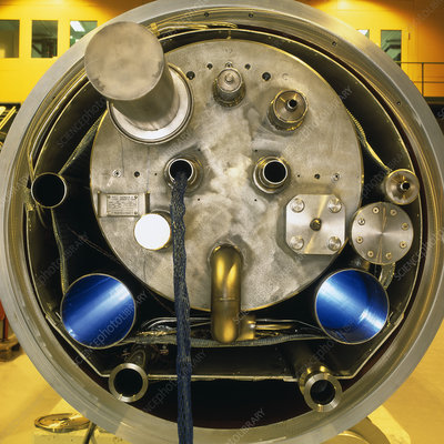 End of magnet for Large Hadron Collider