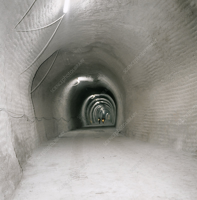 LEP accelerator tunnel construction