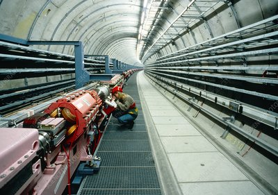 Tunnel of HERA particle collider at DESY