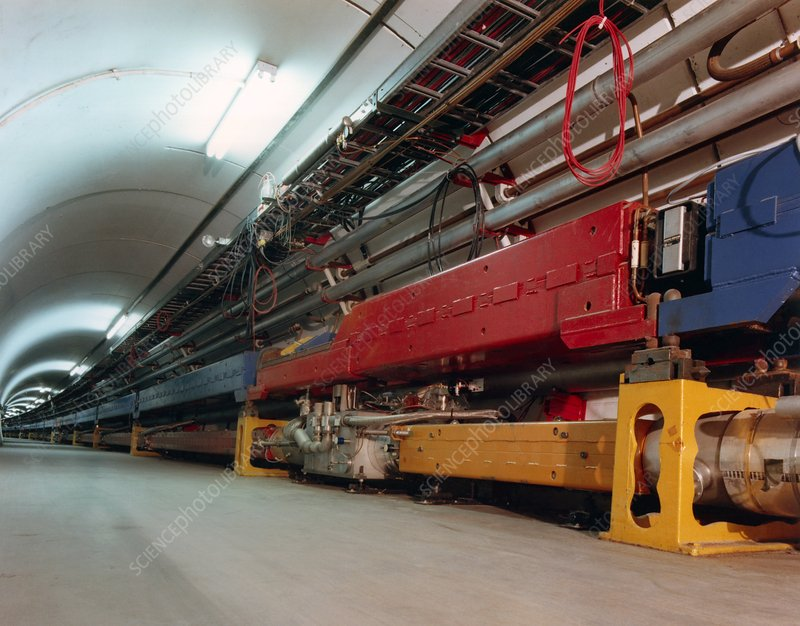 Tevatron particle collider at Fermilab