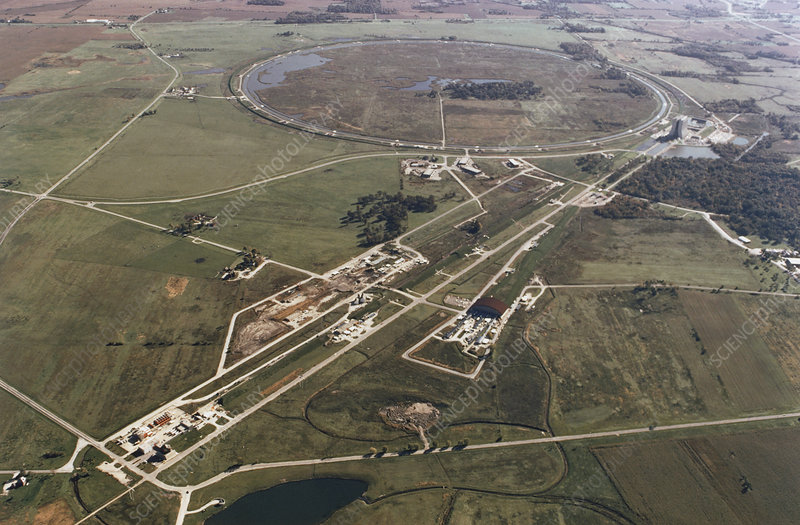 Aerial photo of Tevatron accelerator, Fermilab