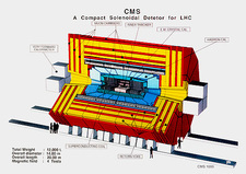 Diagram of CMS detector for LHC at CERN