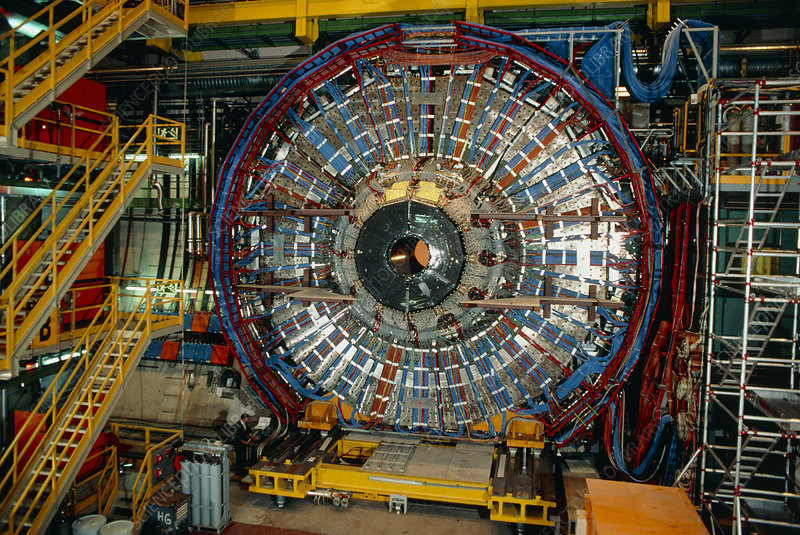 View of end-cap of DELPHI detector, CERN