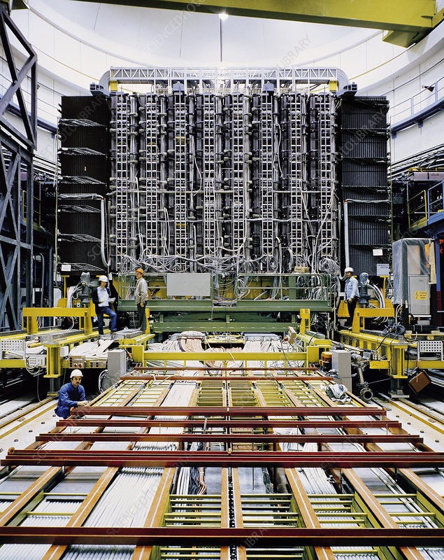UA1 particle detector construction, CERN