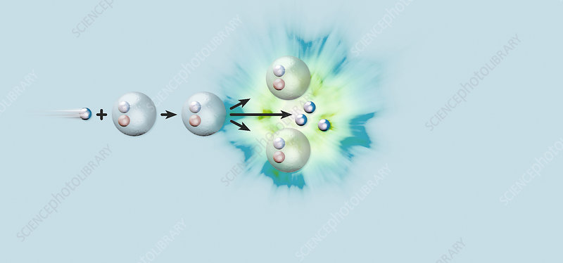 Nuclear fission reaction, artwork