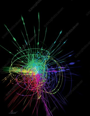 Particle collision, conceptual artwork