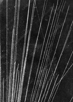 Tracks of alpha particles