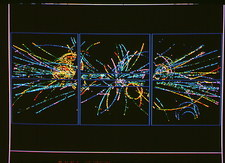 Charged particle tracks at CERN