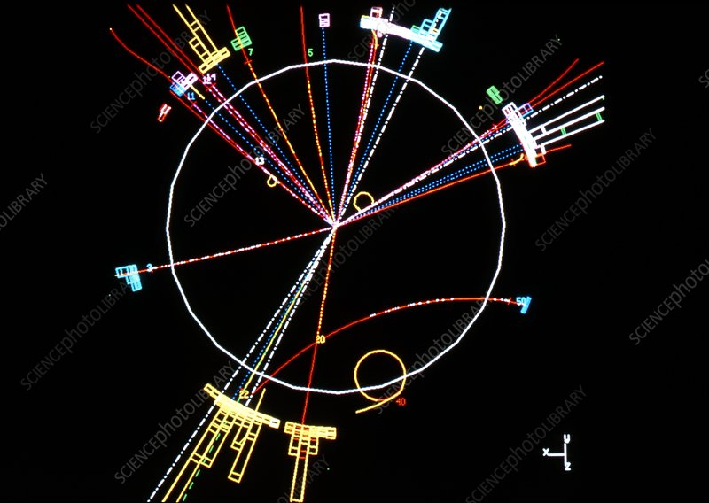 Simulated Higgs boson event