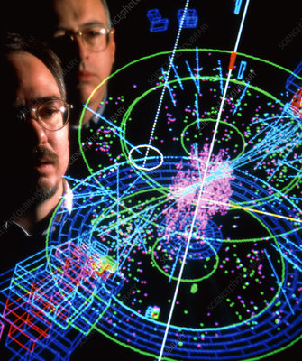 Physicists view a particle collision