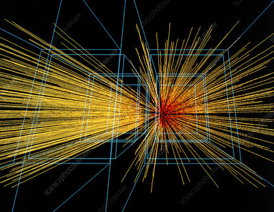 Quark-gluon plasma particle tracks