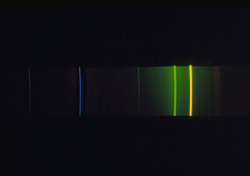 Emission spectrum of mercury