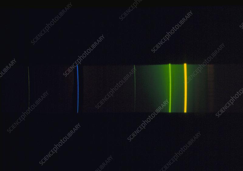 Emission Lines of Mercury Emission Spectrum of Mercury